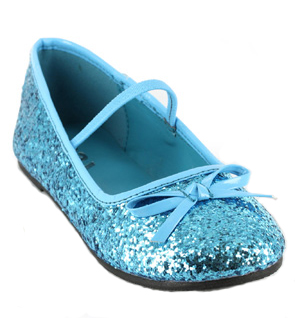 Childrens Costume Glitter Ballet Shoes