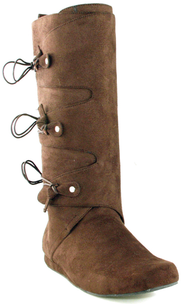 Men's Costume Faux Suede Pioneer or Indian Renaissance Calf Boot
