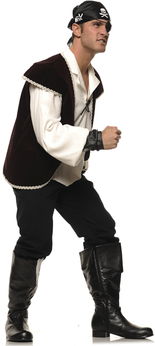 Men's Costume Pirate or Captain Boots