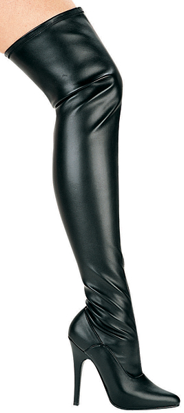 5 Inch Stiletto Heel Stretch Thigh High Boots