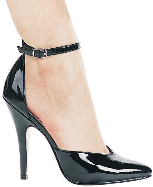5 Inch Stiletto Heel D'Orsay Ankle Strap Pumps