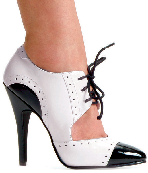 5 Inch Stiletto Heel Closed Toe Two Tone Oxford Pumps