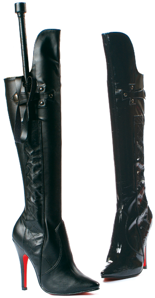 5 Inch Stiletto Heel Knee Boots w/ Whip