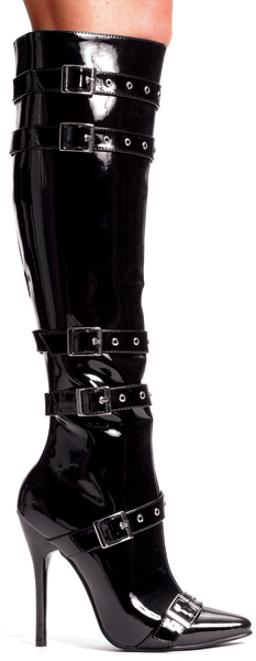 5 Inch Stiletto Heel Knee Boots wBuckles