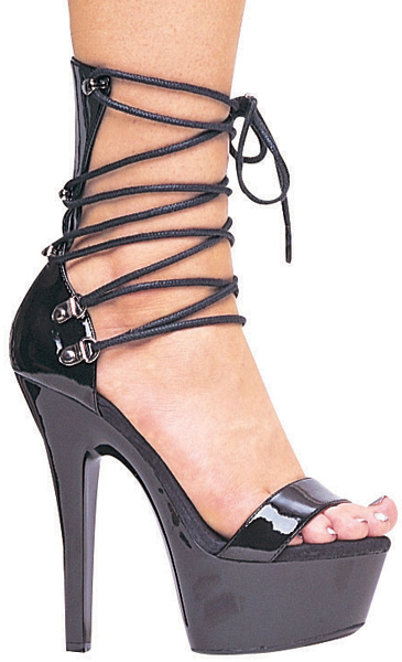 6 Inch Stiletto Heel Lace Up Platform Sandals