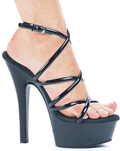 6 Inch Stiletto Heel Strappy Platform Sandals