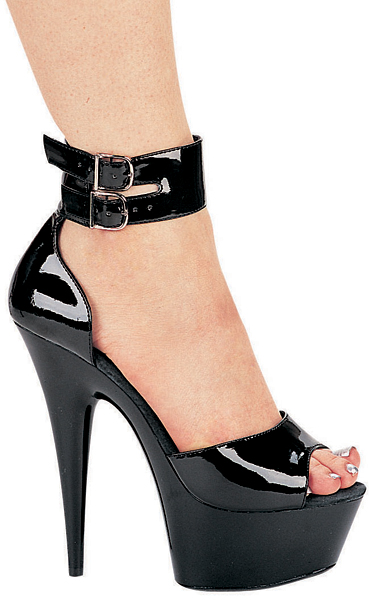 6 Inch Stiletto Heel Closed Back Platform Sandals w/Ankle Strap