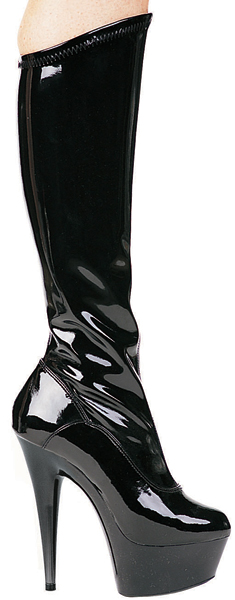 6 Inch Stiletto Heel Stretch Platform Knee Boots