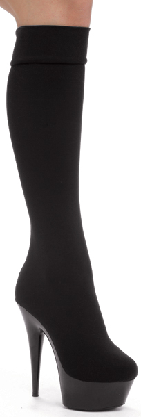 6 Inch Stiletto Heel Stretch Lycra Platform Knee Boots