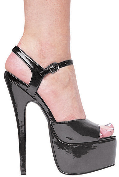 6 1/2 Inch Stiletto Heel Platform Sandals - Click Image to Close