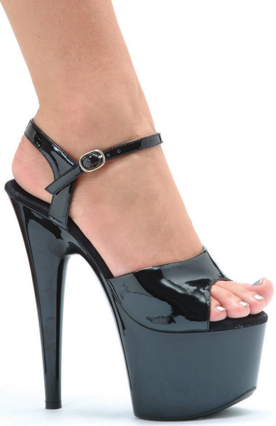 7 Inch Stiletto Heel Platform Sandals
