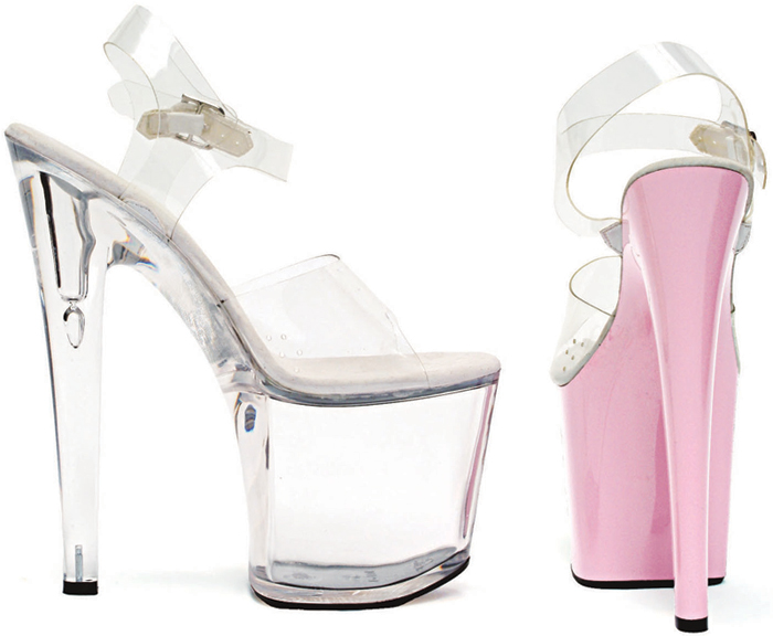 8 Inch Stiletto Heel Platform Sandals