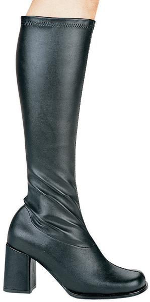 3 Inch Chunky Heel Go-Go Disco Knee Boots - Click Image to Close